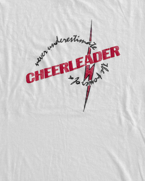 "Single Stitched Stained ""Cheerleader"" Tee - 1980s"