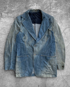 Lee Sun Faded Denim Work Blazer - 1960s