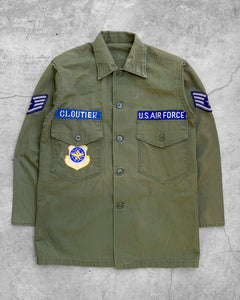 """Cloutier"" Patched Military Shirt - 1970s"