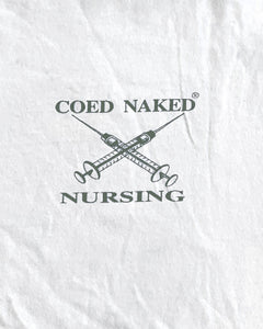"Single Stitched ""Coed Naked Nursing"" Tee - 1990s"