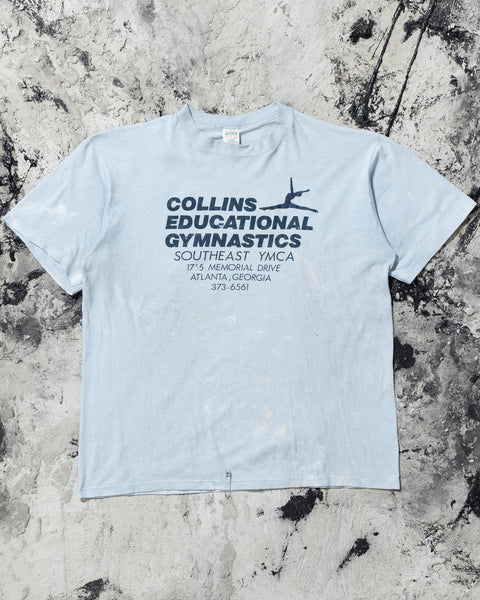 "Single Stitched ""Collins Educational Gymnastics"" Painted Tee - 1980s"