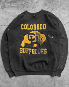 "Fruit Of The Loom Painted ""Colorado Buffaloes"" Raglan Sweater - 1990s"