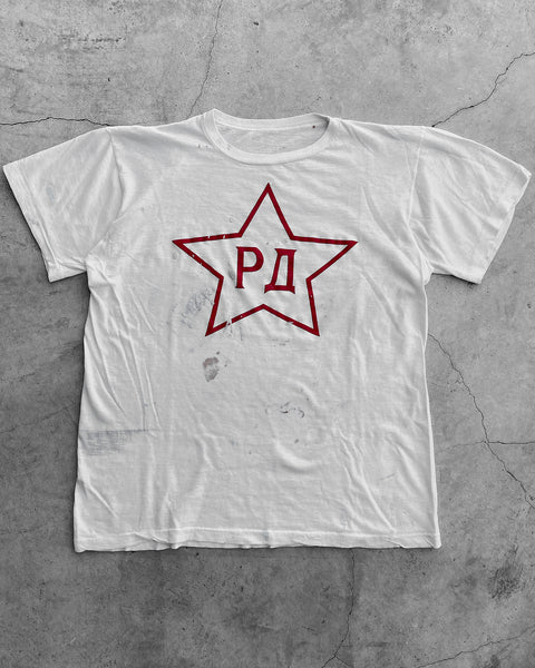 Single Stitched Painted Pi Rho Phi Star Tee - 1970s