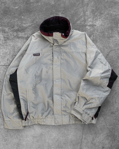Columbia Taupe Panelled Shell Jacket - 1990s