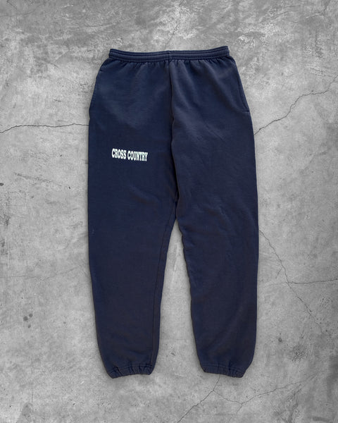 "Jerzees Navy Blue ""Cross Country"" Sweatpants - 1990s"