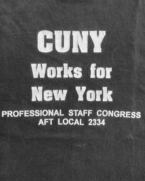 "Single Stitched ""Cuny Works For New York"" Tee - 1980s"