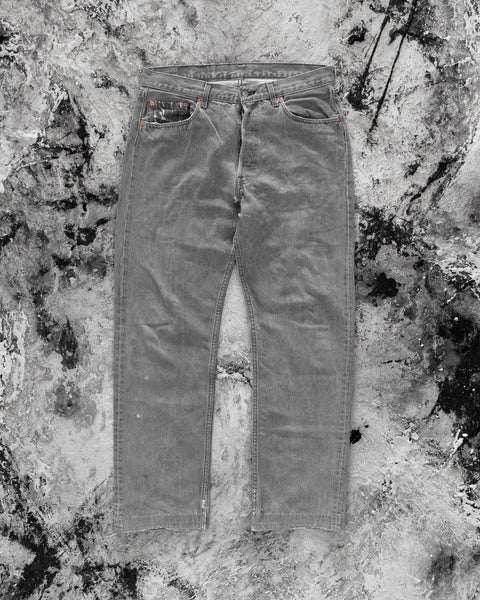 Levi's 501 Light Grey Jeans - 1990s