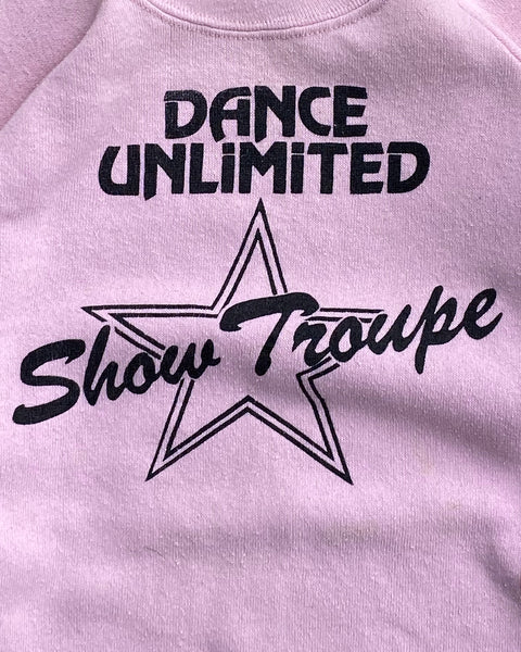 """Dance Unlimited"" Show Troupe Raglan Sweatshirt - 1970s"