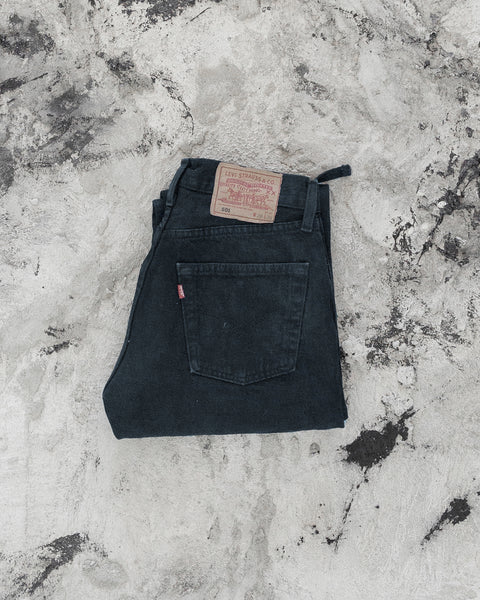 Levis 501 Faded Midnight Torn Crotch Jeans - 1990s