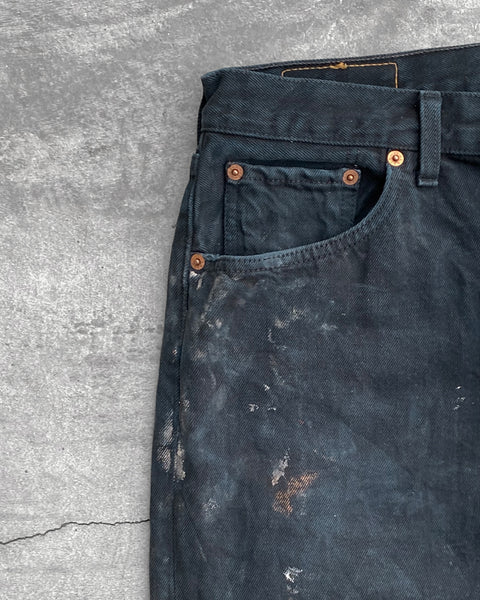 Levi's 501 DIrty Black Jeans - 1990s