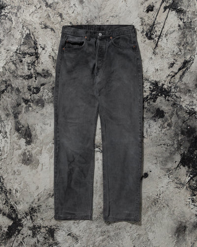 Levi's 501 Stained Black Jeans - 1990s