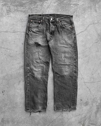 Levi's 501 Faded Grey Jeans - 1990s