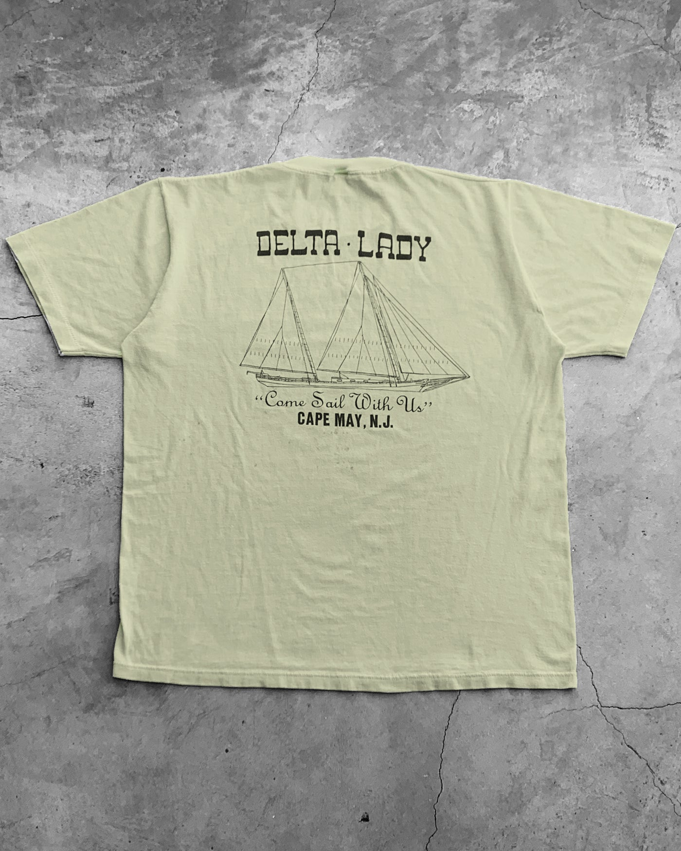 "Single Stitched ""Delta Lady Crew"" Tee - 1980s"
