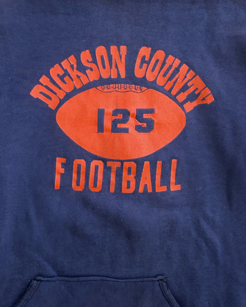 Faded Navy Dickson County Football Hoodie - 1990s