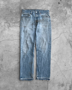 Levi's 501 Dirt Stained Released Hem Jeans