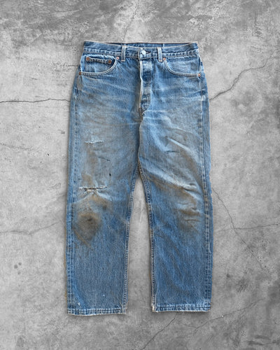 Levi's 501 Dirty Blue Jeans - 1990s
