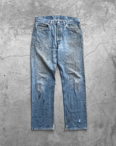 Levi's 501 Stained Mud Wash Jeans - 1990s