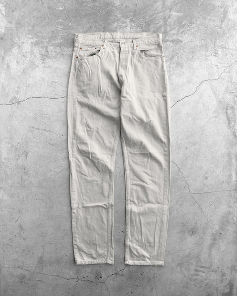 Levi's 517 Stained Cream Flared Jeans - 1990s