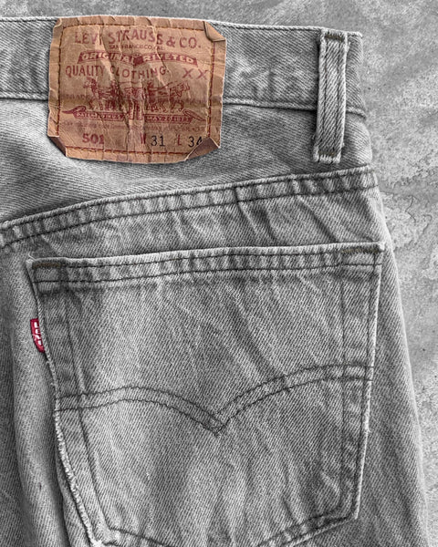 Levi's 501 Dirty Grey Jeans - 1980s