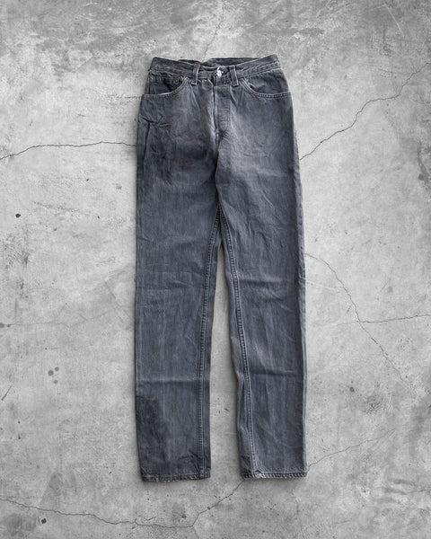 Levi's Stained & Faded Grey Jeans - 1990s
