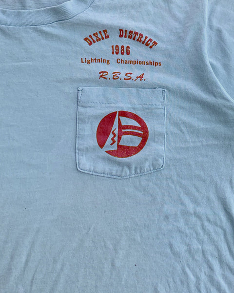 "Single Stitched ""Dixie District"" Pocket Tee - 1986"