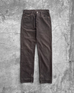 Levi's 501 Repaired Brown Denim Jeans