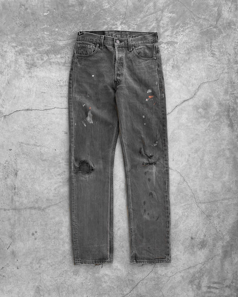 Levi's 501 Distressed Black Jeans- 1990s