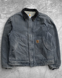 Carhartt Faded Slate Blue Lined Work Jacket - 1990s