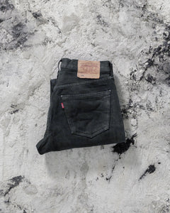Levi's 501 Faded Black Distressed Jeans - 1990s