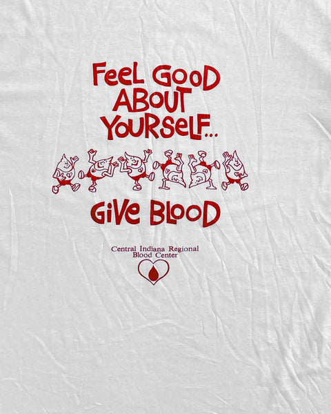 "Single Stitched  ""Feel Good About Yourself"" Tee - 1980s"