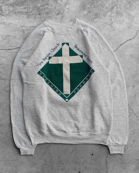 "Hanes ""First Baptist Church"" Raglan Sweatshirt - 1990s"