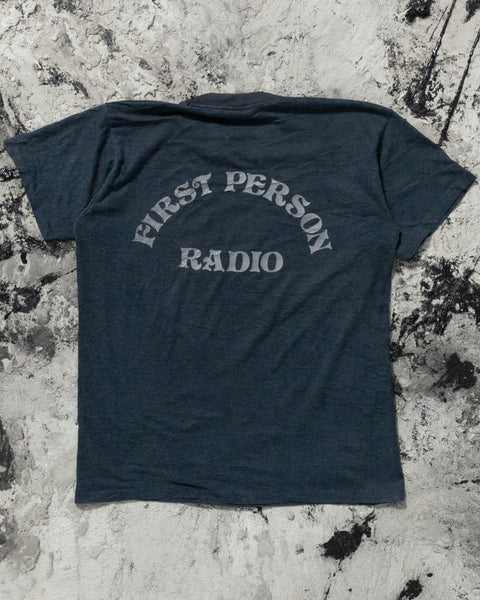 """First Person Radio"" Navy Blue Tee - 1980s"