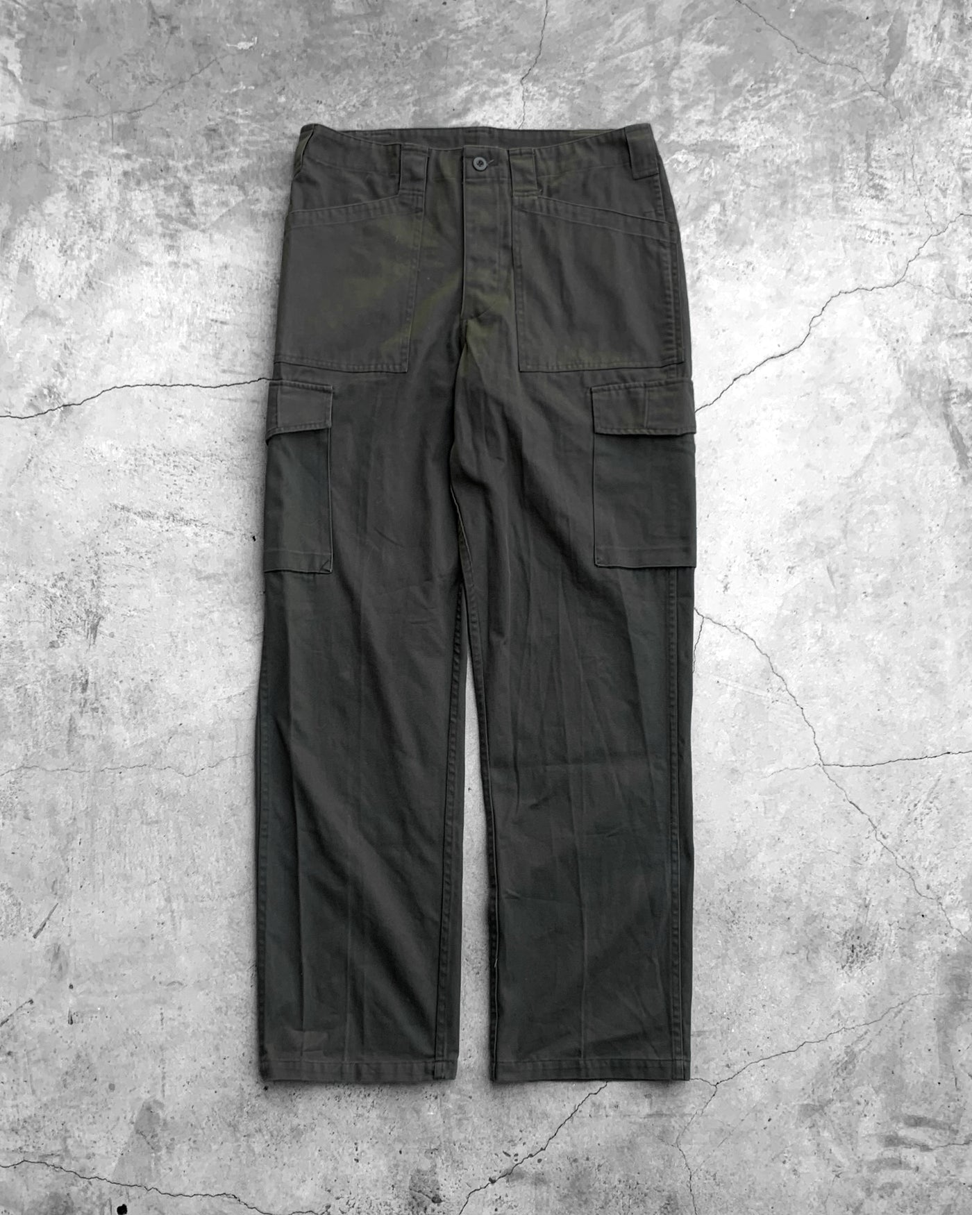 US Military Olive Cargo Pants - 1990s