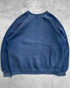 Contrast Sun Faded Stitch Raglan Sweatshirt - 1970s