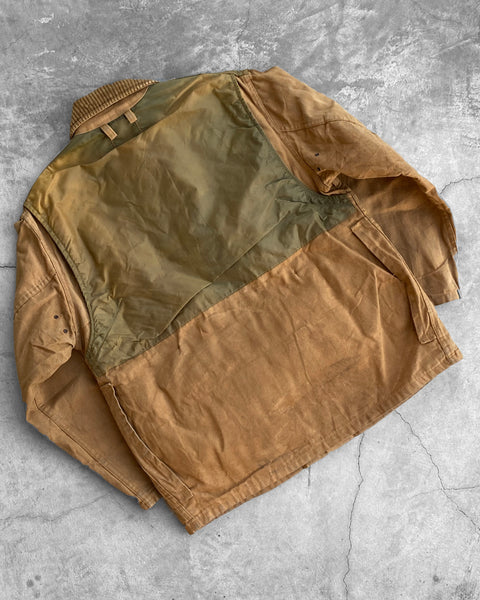 Sun Faded Camel Padded Shoulder Hunting Jacket - 1960s