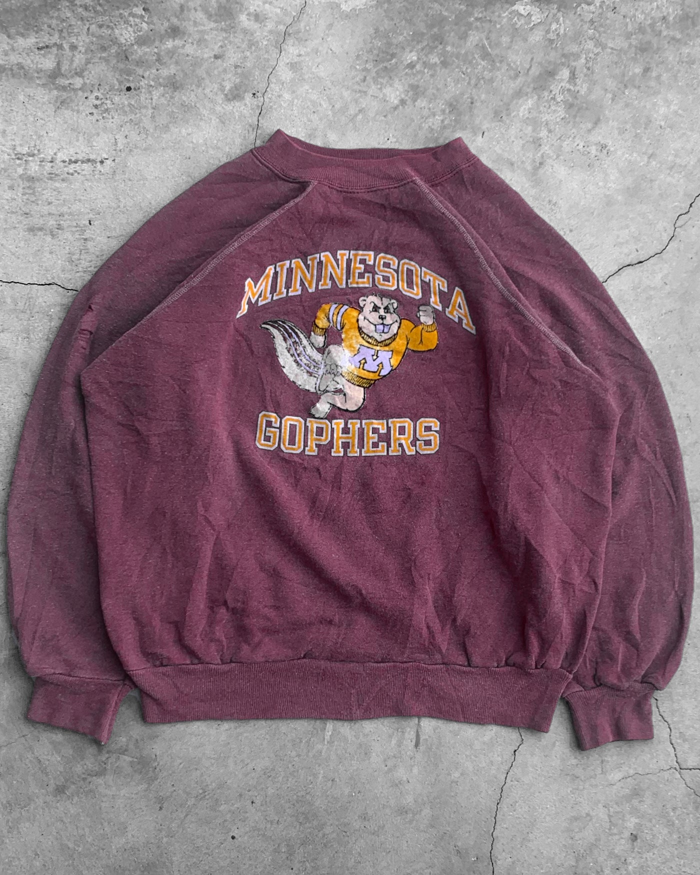 Champion Minnesota Gophers Raglan Sweatshirt - 1980s