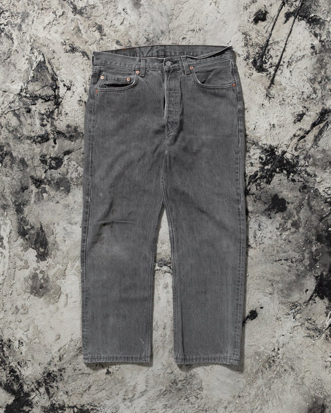 Levi's 501 Distressed Cropped Jeans - 1990s