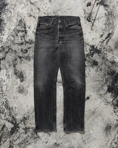 Levi's 501 Black Faded Jeans - 1990s