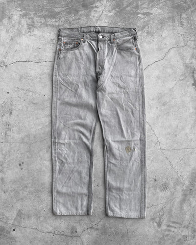 Levi's 501 Faded Slate Grey Jeans - 1990s