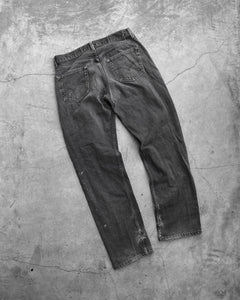 Levi's 501 Faded Black Stained Jeans - 1990s