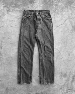 Levi's 501 Distressed Grey Jeans - 1990s