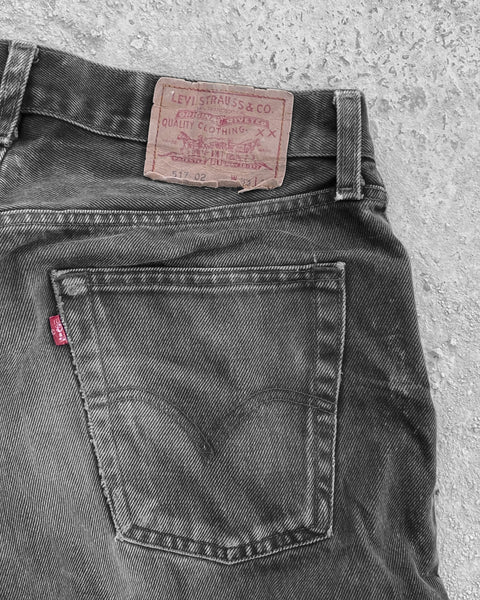 Levi's 517 02 Faded Black Jeans - 1990s