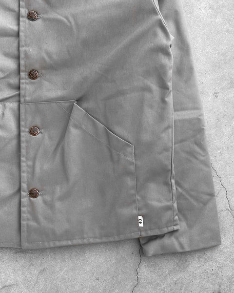 Light Grey Quilted Work Jacket - 1990s