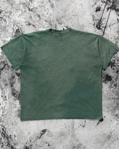 Single Stitched Sun Faded Green Blank Tee - 1990s
