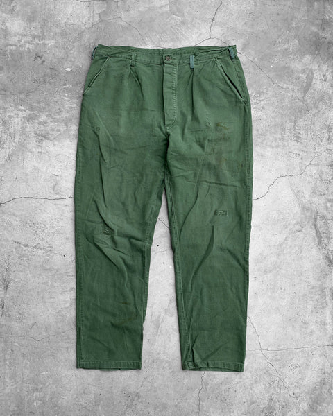 Repaired Green Military Pant - 1970s