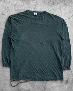 Faded Forest Green Long Sleeve Tee - 1990's