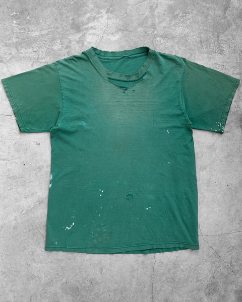 Green Sun Faded Blown-Out Tee - 1990s
