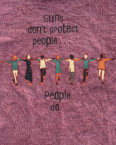"""Guns Don't Protect People... People Do"" Political Tee - 1990s"
