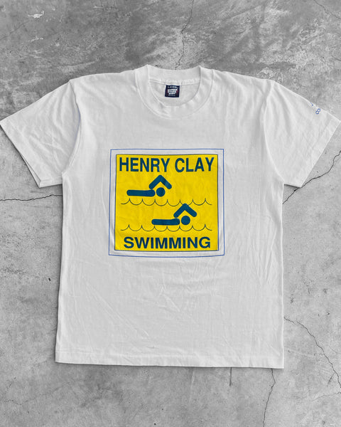 "Screen Stars Best Single Stitched ""Henry Clay Swimming"" Tee - 1990s"