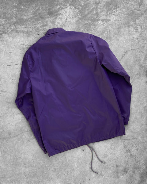"""Holy Cross"" Purple Coaches Jacket - 1990s"